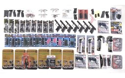 Group of Assorted Pepper Spray Protective Eyewear Grips and Acce