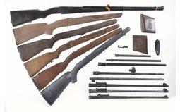 Grouping of Rifle Gun Parts