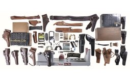 Group of Tipton Gun Cleaning Vise and Assorted Firearms Items