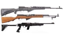 Three Semi Automatic Rifles -A) Norinco SKS Rifle