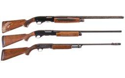 Three Slide Action Shotguns