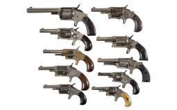 Ten Spur Trigger Revolvers -A) Hopkins & Allen Hinsdale Revolver