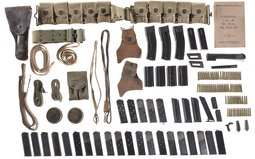 Grouping of Gun Parts, Gun Accessories and Magazines