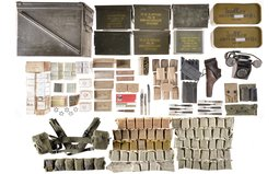 Large Group of Assorted Military Ammunition and Accessories