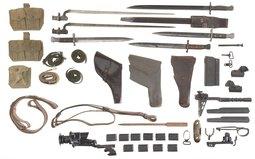 Grouping of Bayonets, Military Items and Additional Gun Parts