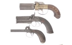 Three Percussion Pistols