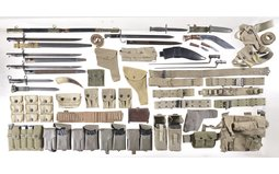 Group of Assorted Edged Weapons and Military Accessories