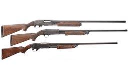 Four Slide-Action Shotguns