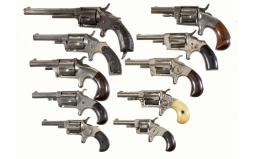 Ten Spur Trigger Revolvers -A) Hopkins & Allen XL No. 6 Revolver
