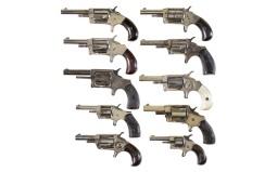 Ten Spur Trigger Revolvers -A) Tiger No. 2 Marked Revolver