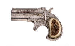 Engraved Remington Type 1 Over/Under Derringer