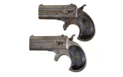 Two Remington Type III Derringers