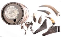 American Powder Mills Gunpowder Keg w/ Holsters and Accessories