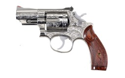 Engraved Smith & Wesson Model 66 Double Action Revolver