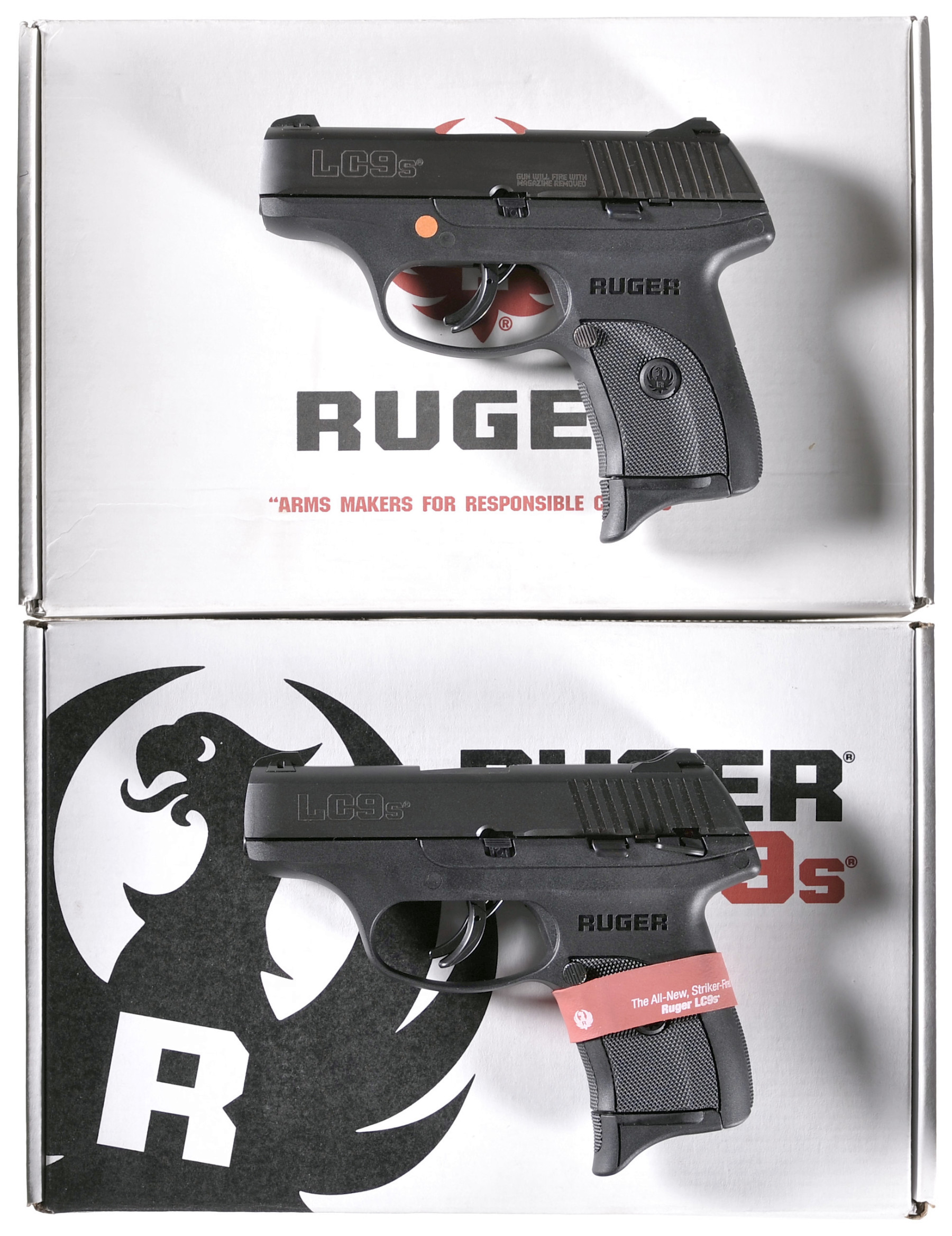 Two Ruger LCP Semi-Automatic Pistols -