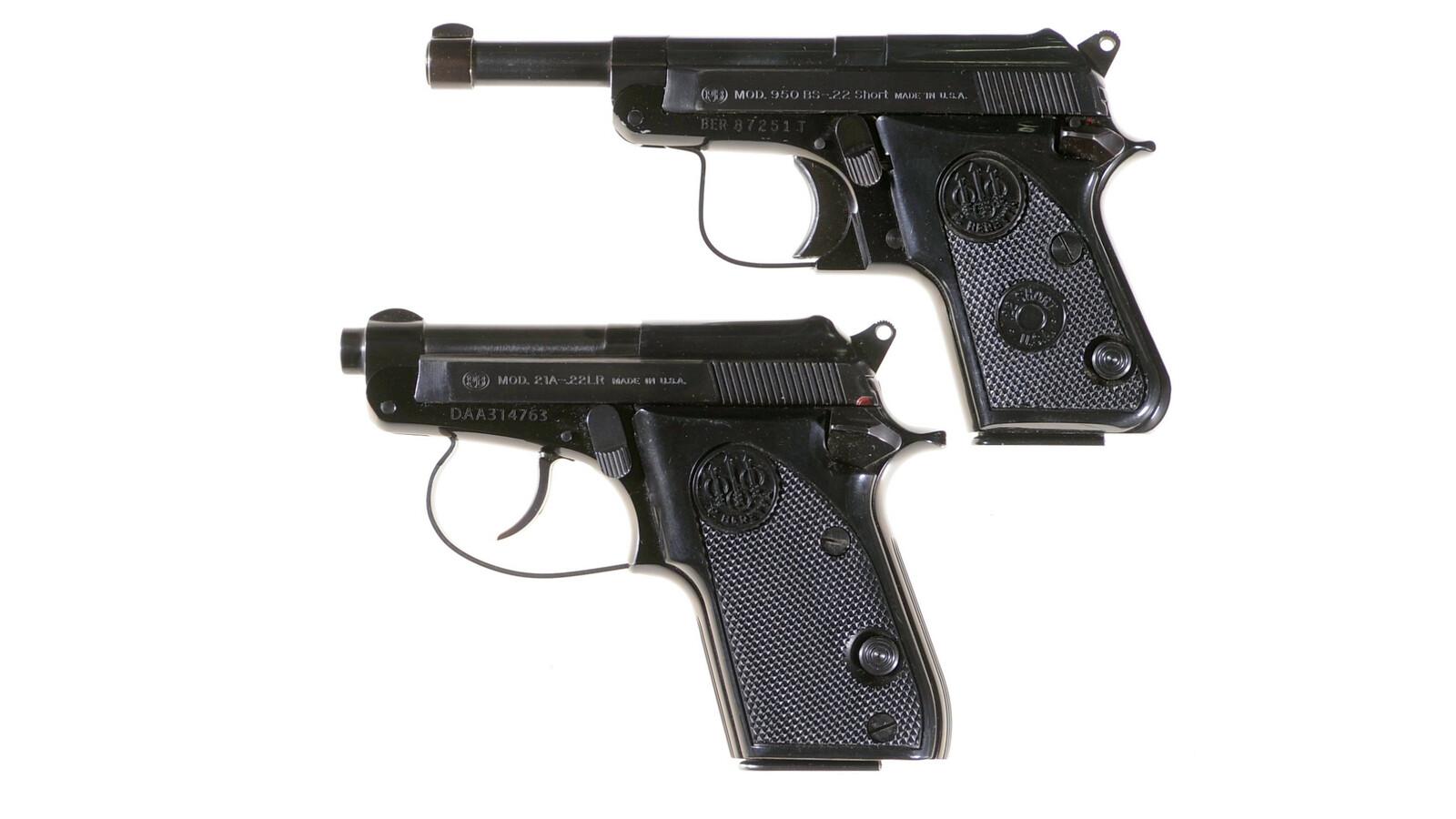 Two Beretta Semi-Automatic Pistols