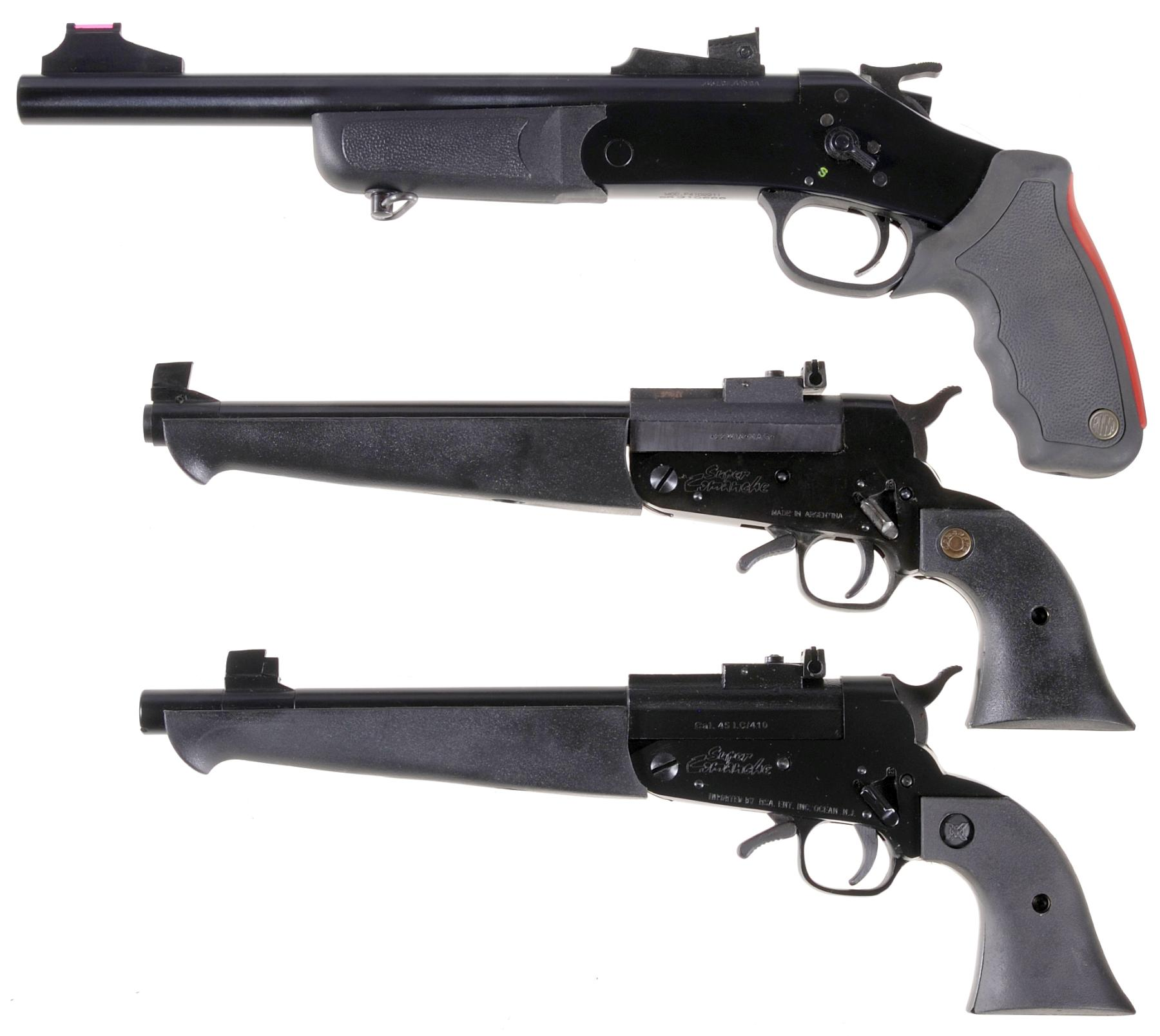 Three Single Shot Pistols -A) Rossi Model P4102211 Pistol