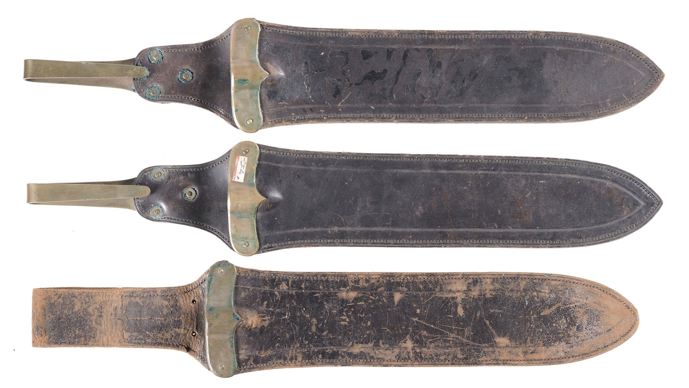 Three Leather Scabbards for the Model 1887 Hospital Corps Knife
