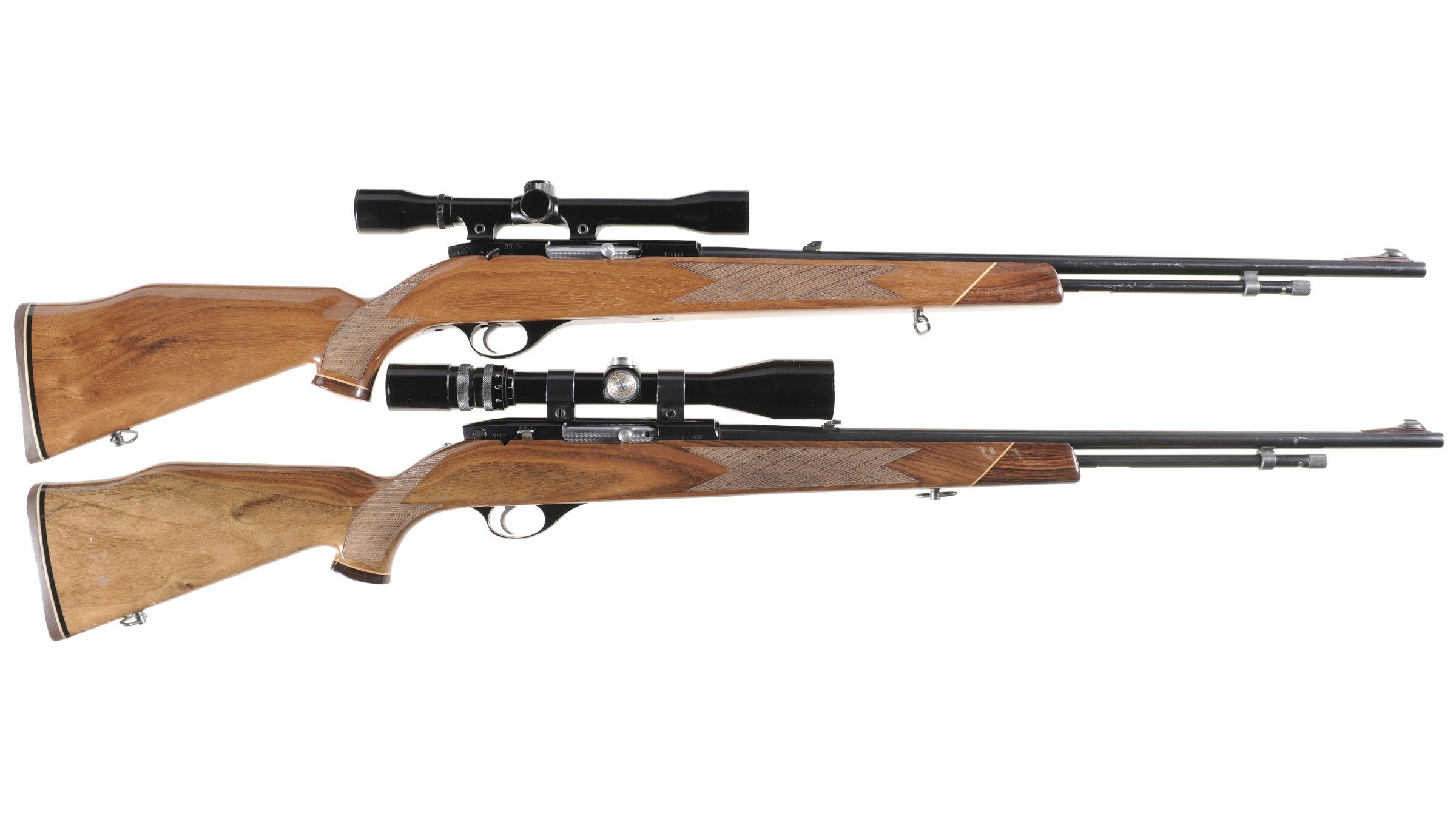 Two Weatherby Mark XXII Semi-Automatic Rifles w/ Scopes