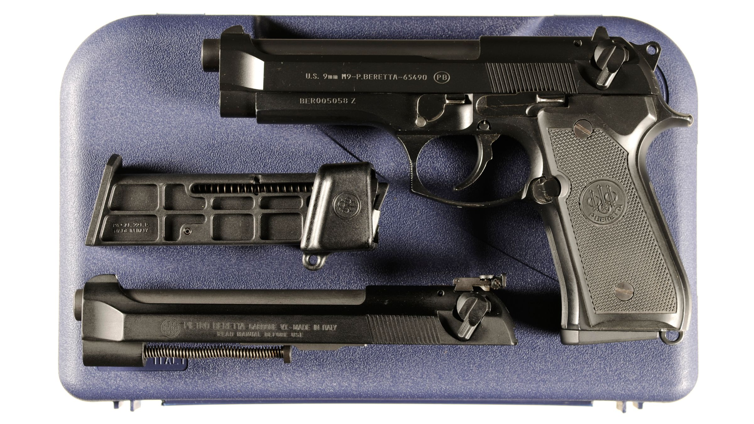 Beretta M9 Semi-Automatic Pistol with Case and Conversion Kit