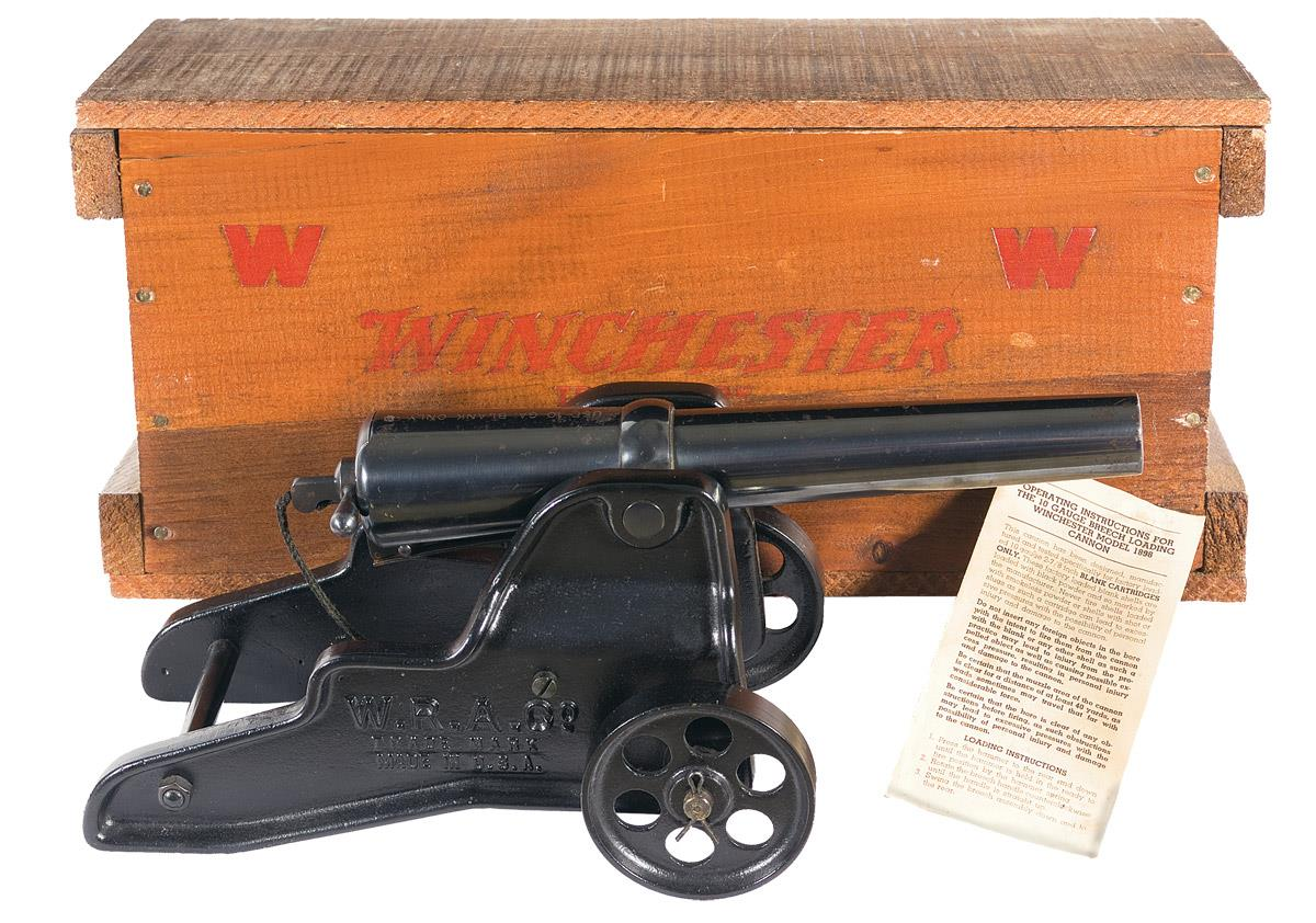 Winchester Signal Cannon in Winchester Wood Box
