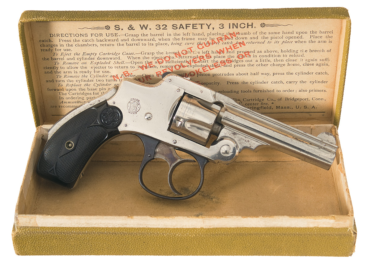 Smith & Wesson 32 Safety Hammerless Revolver 32 S&W