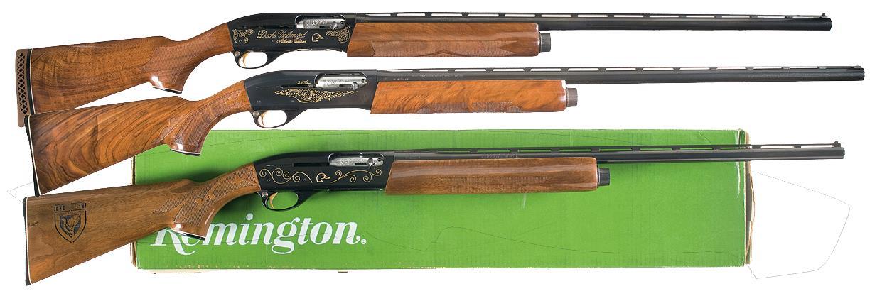 Three Remington Ducks Unlimited Commemorative Shotguns