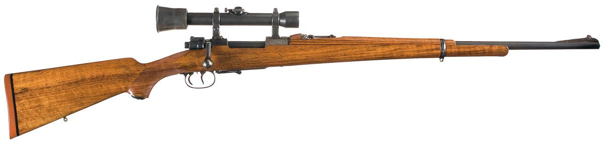 Mauser Oberndorf Model 98 Bolt Action Rifle with Scope