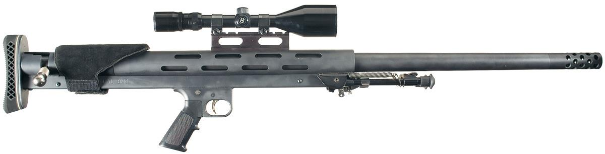 Lar Grizzly Big Boar 50 Caliber Rifle With Scope And Case