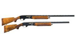 Two Ithaca Mag 10 Semi-Automatic Shotguns