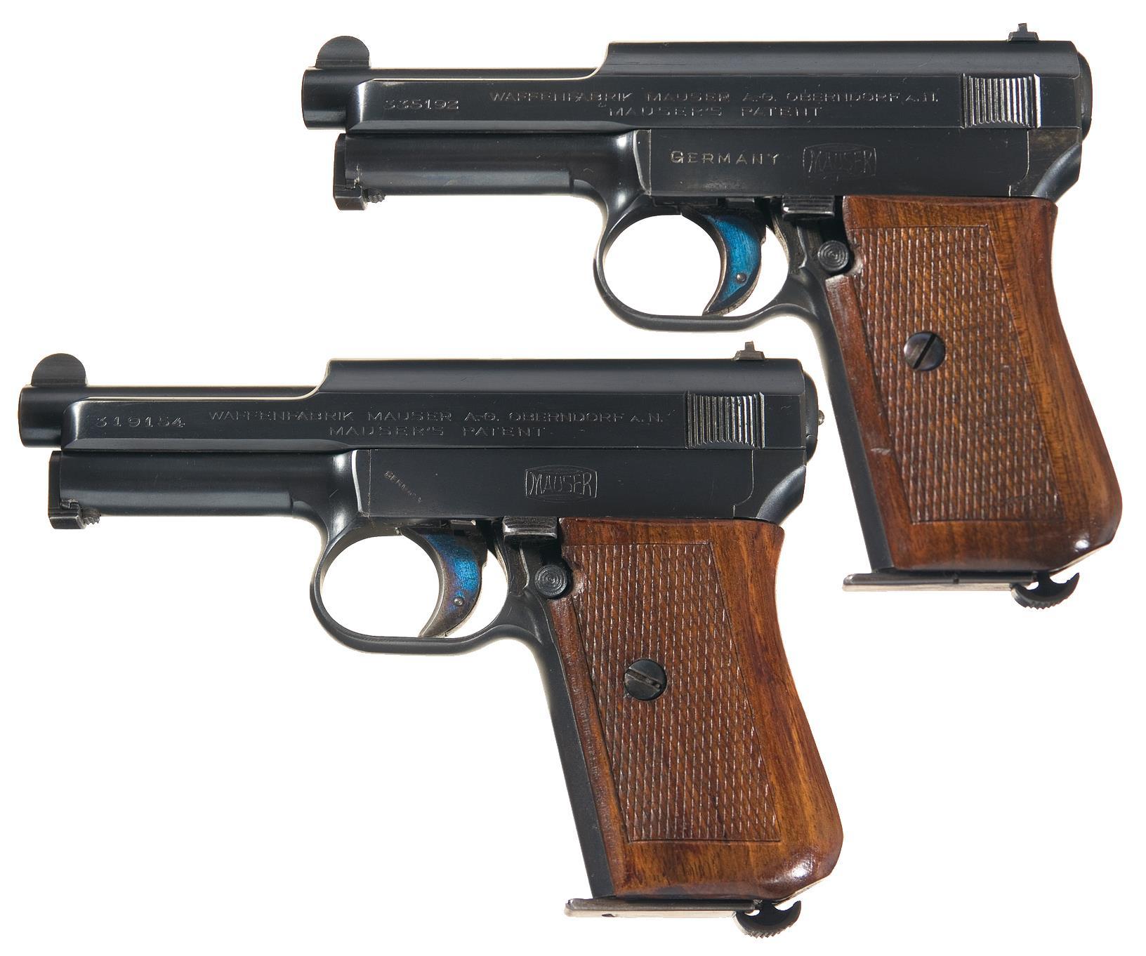 Two Mauser Model 1914 Semi-Automatic Pistols
