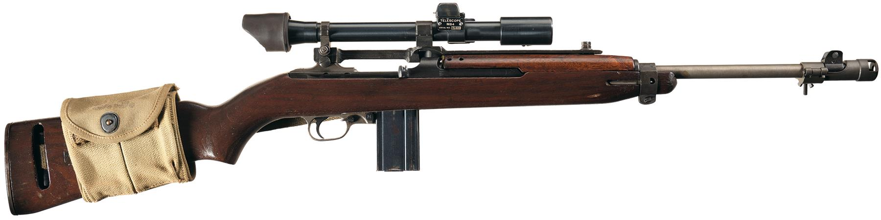 WWII U.S. Army IBM Manufacture M1 Carbine with M84 Scope ... M14 Tactical Sniper Rifle