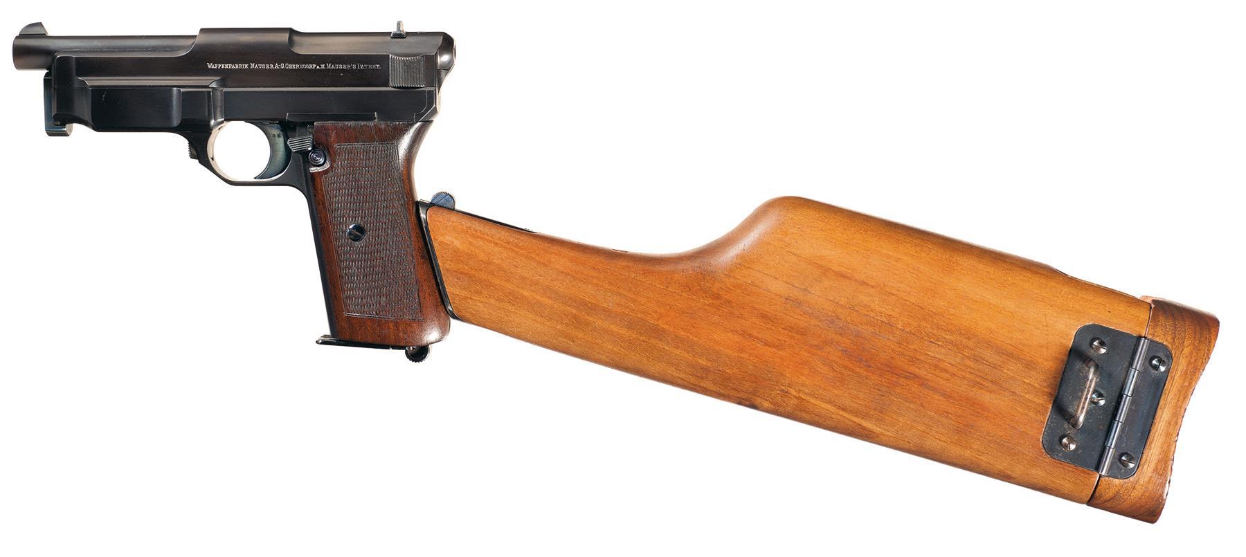 Gun Mauser Pistol Early Nineteenth Century Stock Image - Image ...