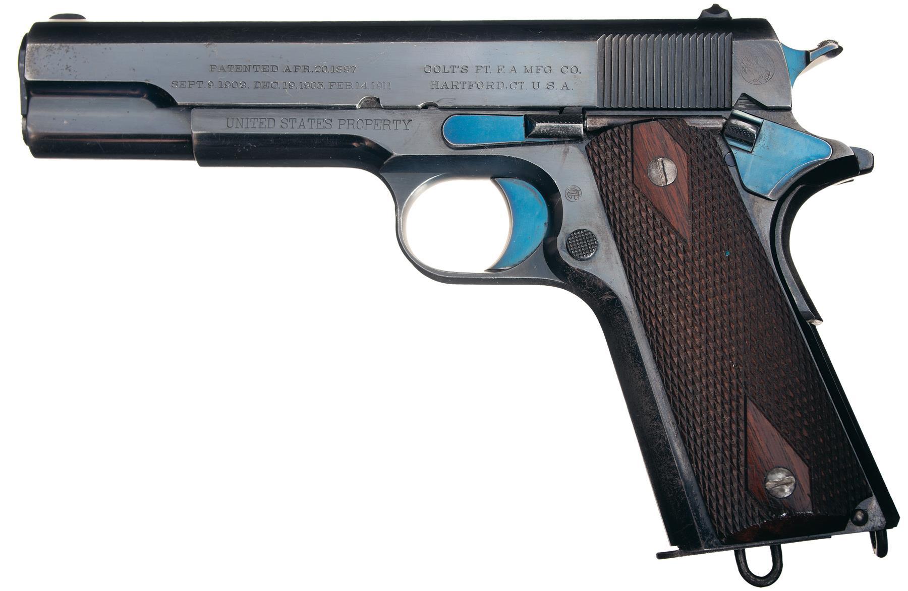 1911 Pistol Colt 45 Assembled On Dec 28 1911 Pistol Firearms Auction Lot 3131