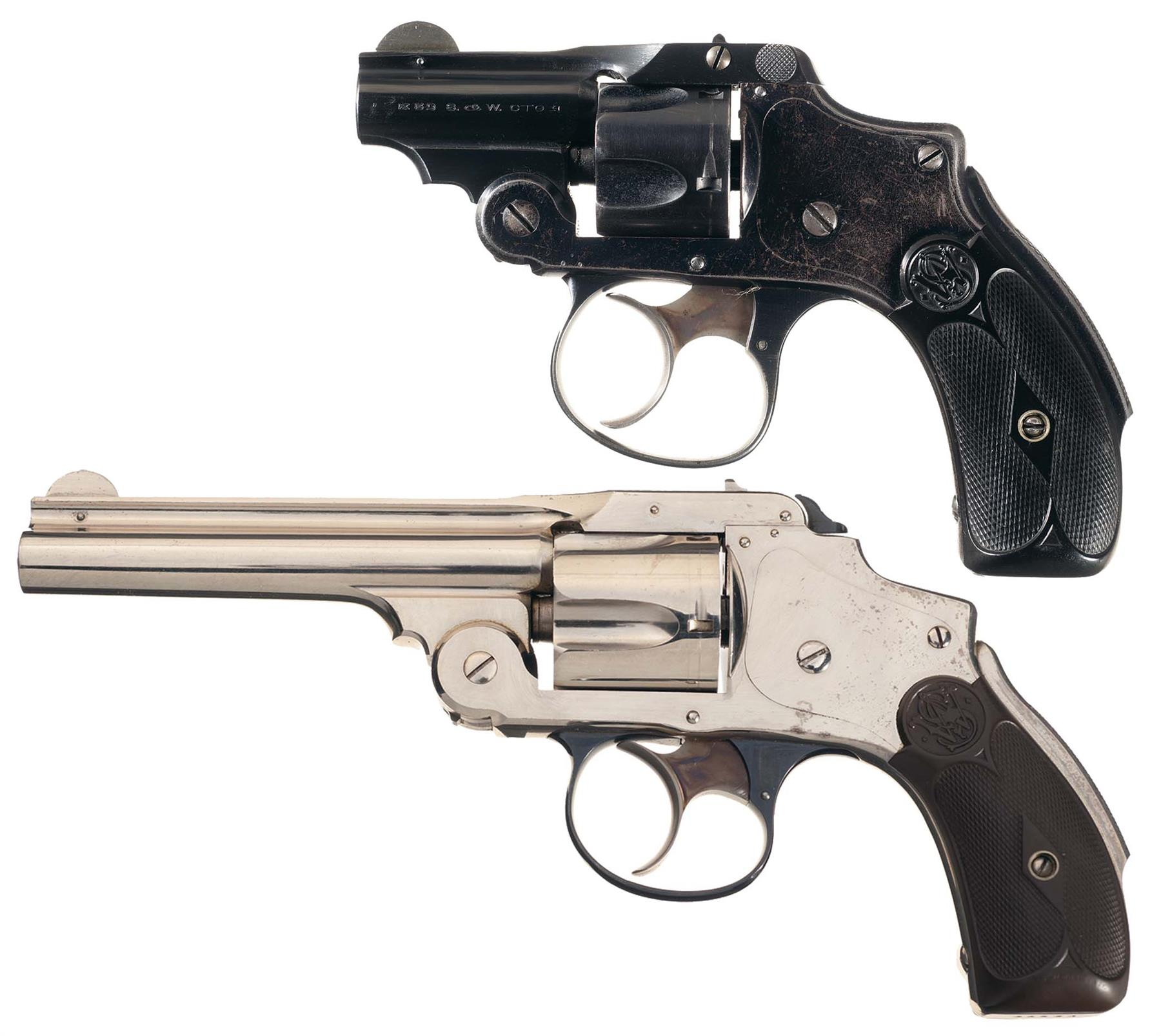Two Smith & Wesson Safety Hammerless Revolvers