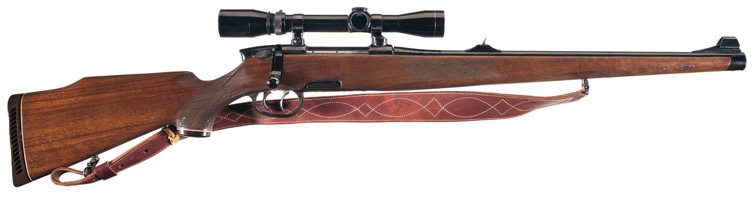 Steyr Mannlicher Model M Full Stock Bolt Action Rifle with Scope