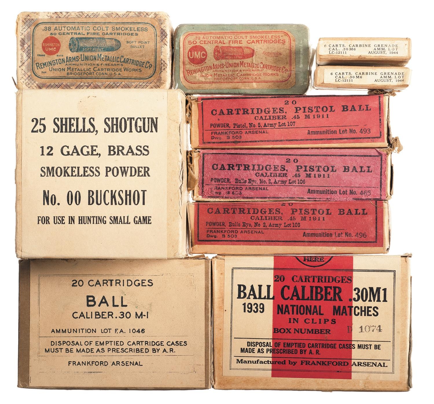 Grouping of Vintage Boxes of Ammunition