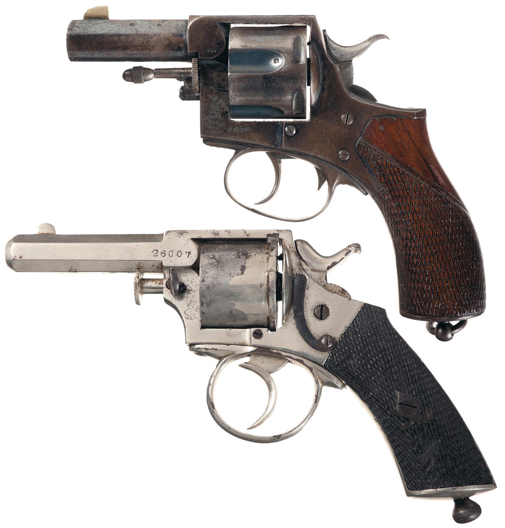 Two Webley & Scott DA Revolvers