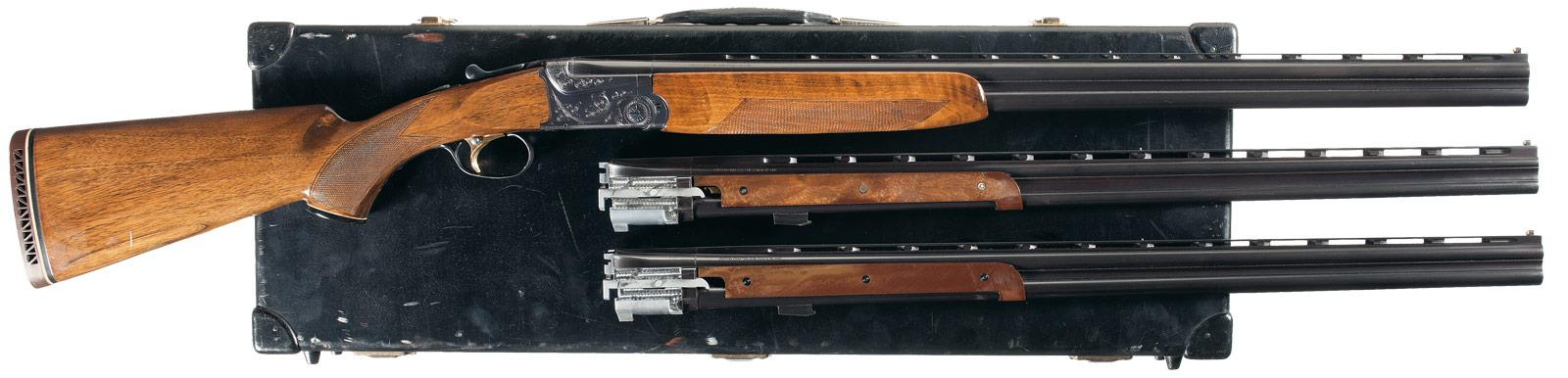 Cased Three Barrel Set Ithaca Model 600 Over/Under Shotgun
