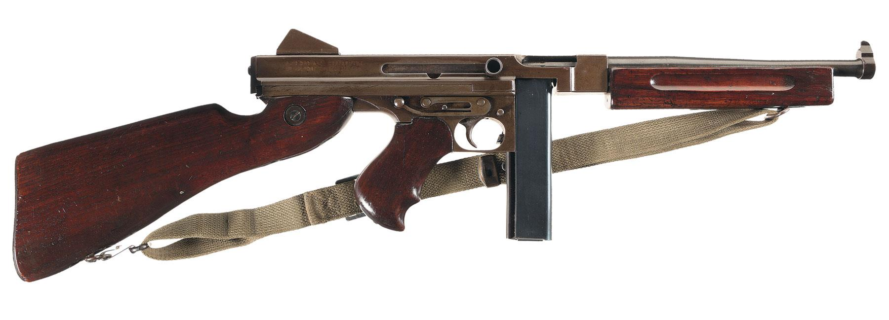 fb09cbaff6f37 Exceptional World War II Thompson M1A1 Submachine Gun with Acces