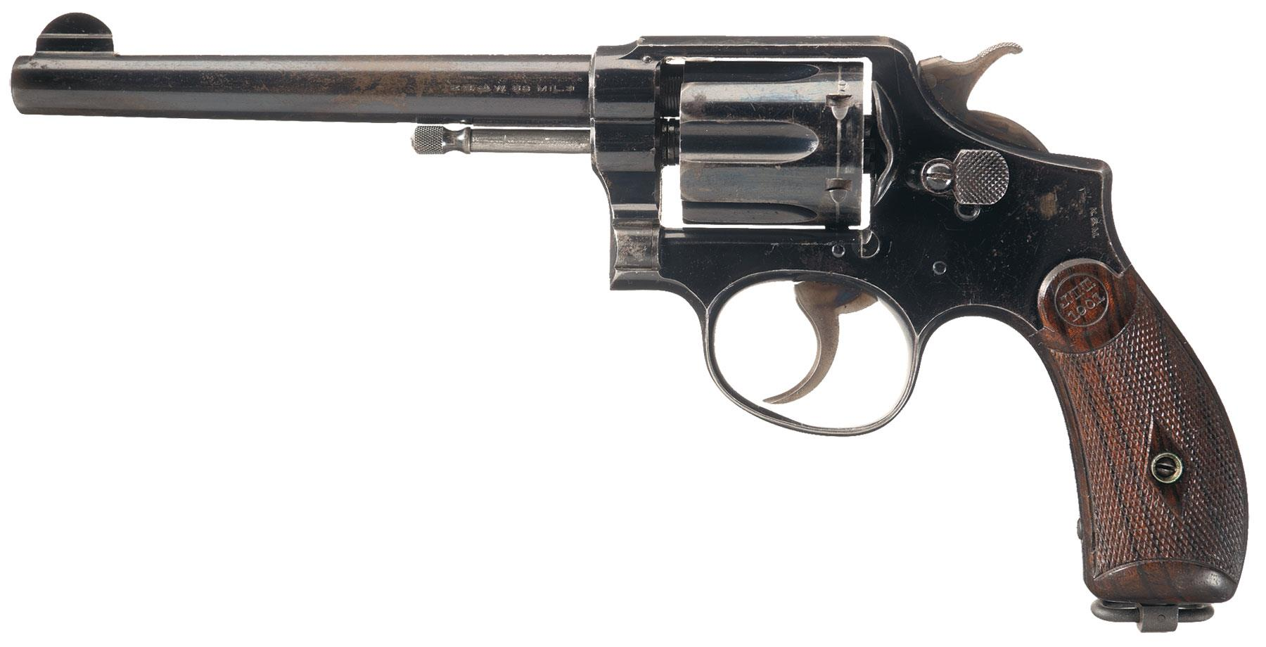 Scarce smith wesson model 1899 military and police revolver firearms auction lot 1875