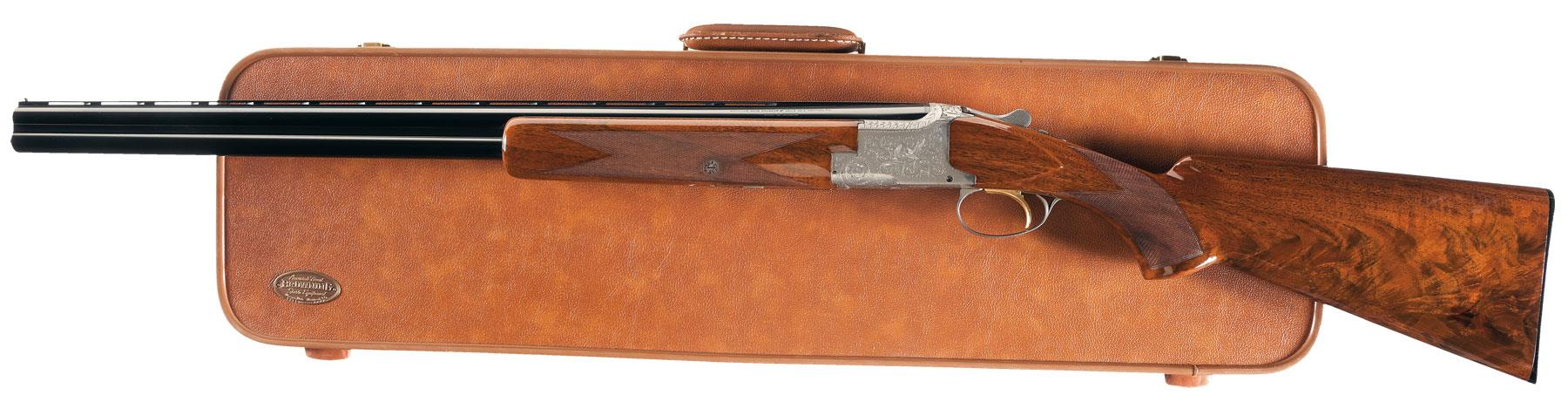 Belgian Browning Superposed Pigeon Grade 20 Gauge Shotgun with C