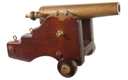 Brown 10 Gauge Breech Loading Signal Cannon with Carriage