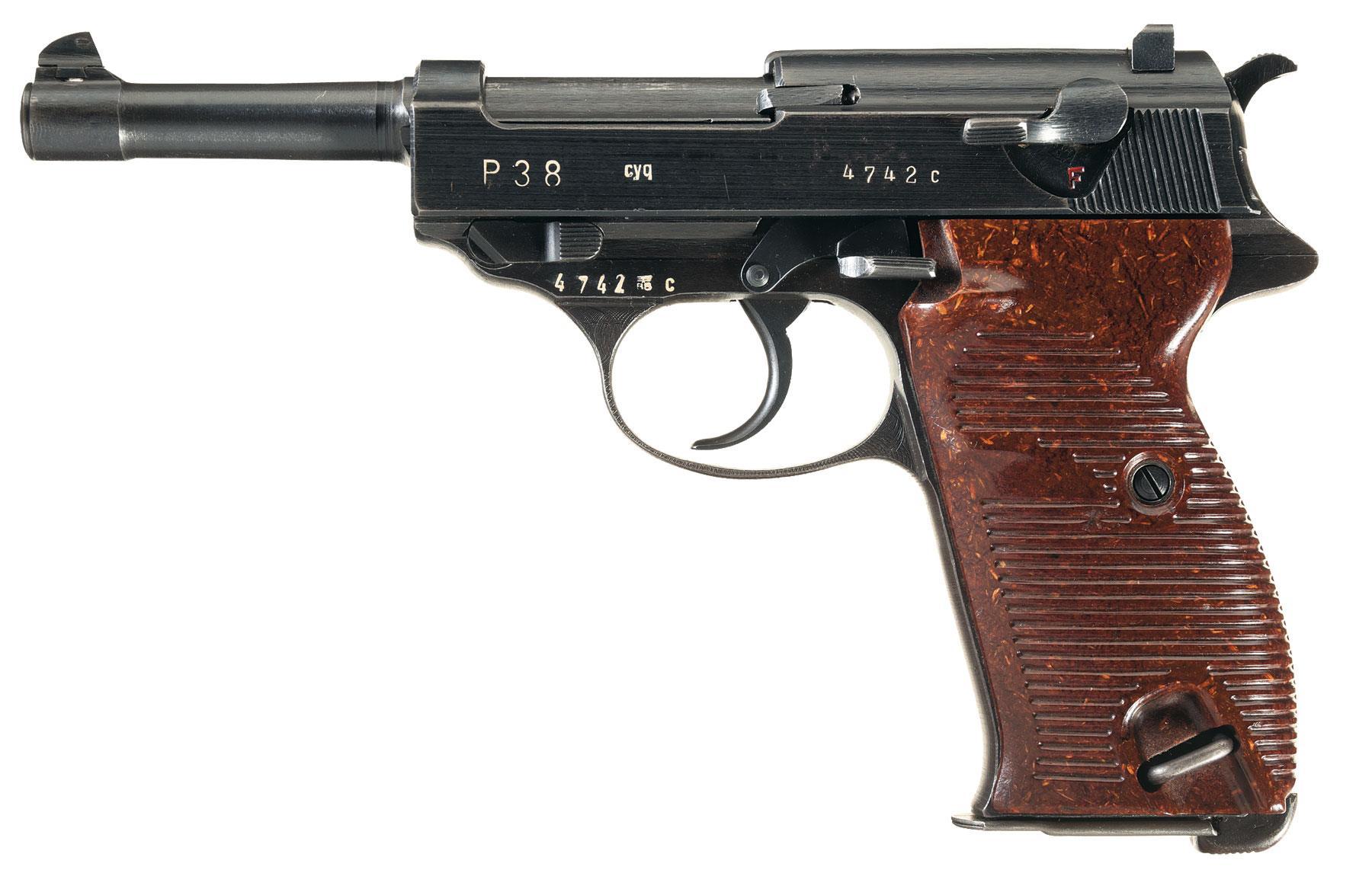 spreewerke cyq code p38 semi automatic pistol pistol firearms auction lot 3507. Black Bedroom Furniture Sets. Home Design Ideas