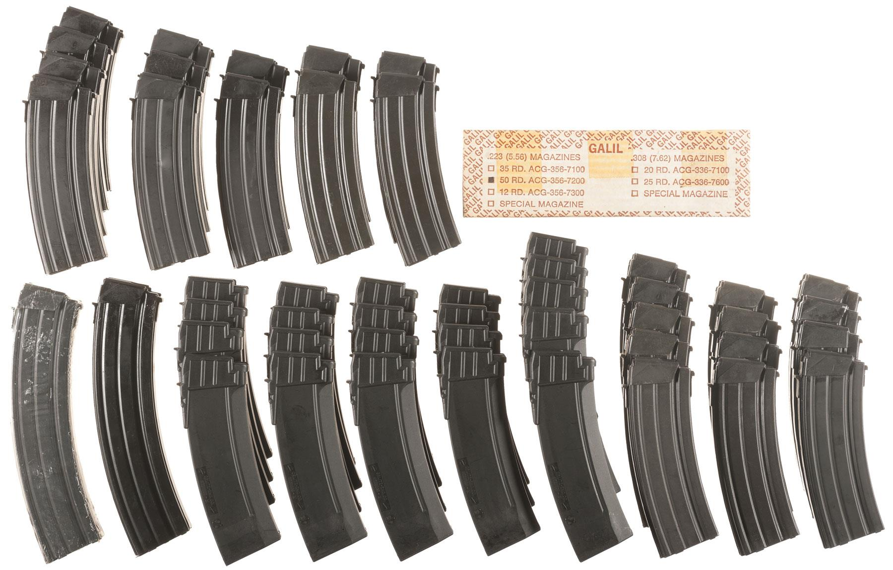 Large Grouping of Galil/Golani Sporter Magazines