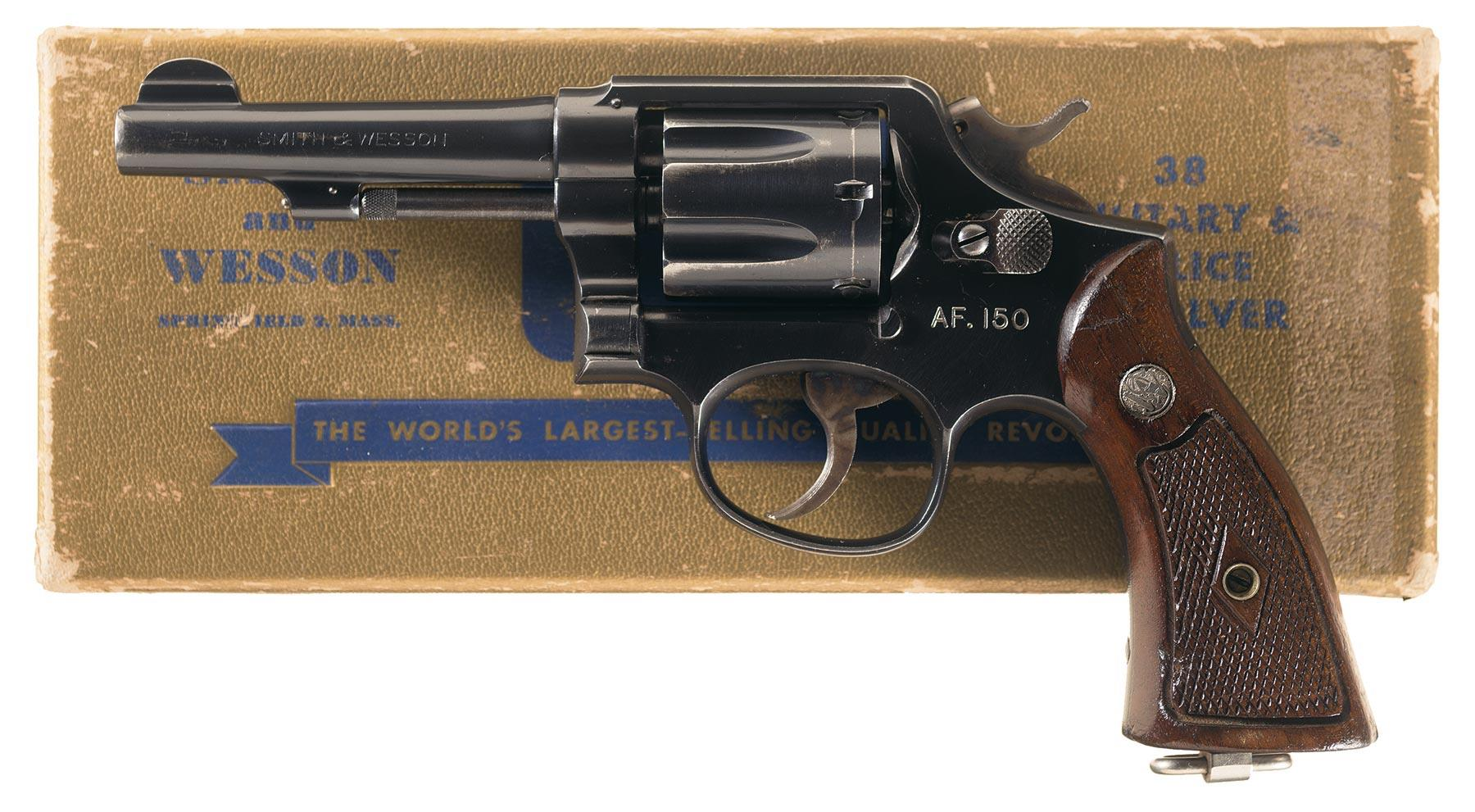 Smith wesson 38 military police revolver firearms auction lot 1766