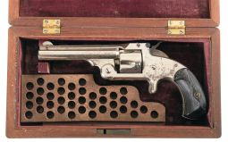 Factory Cased Smith & Wesson Model 1 1/2 Second Issue Revolver