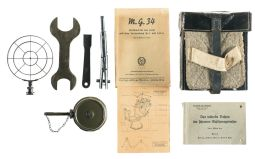 Nazi M G  34 Gunner's Belt Pouch with Tools and Three Manuals