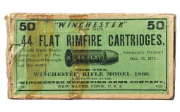 Fifty Round Box of Winchester .44 Flat Rimfire Cartridges