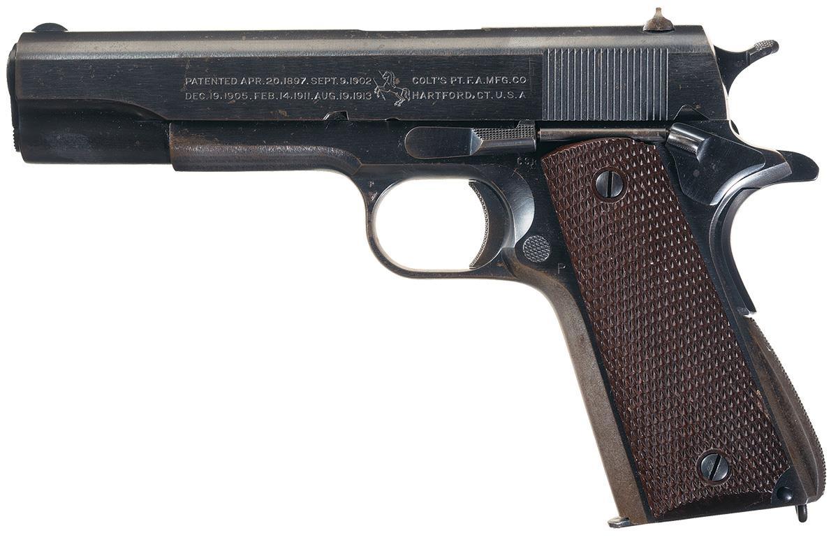 Colt 1911a1 Pistol Firearms Auction Lot 1582